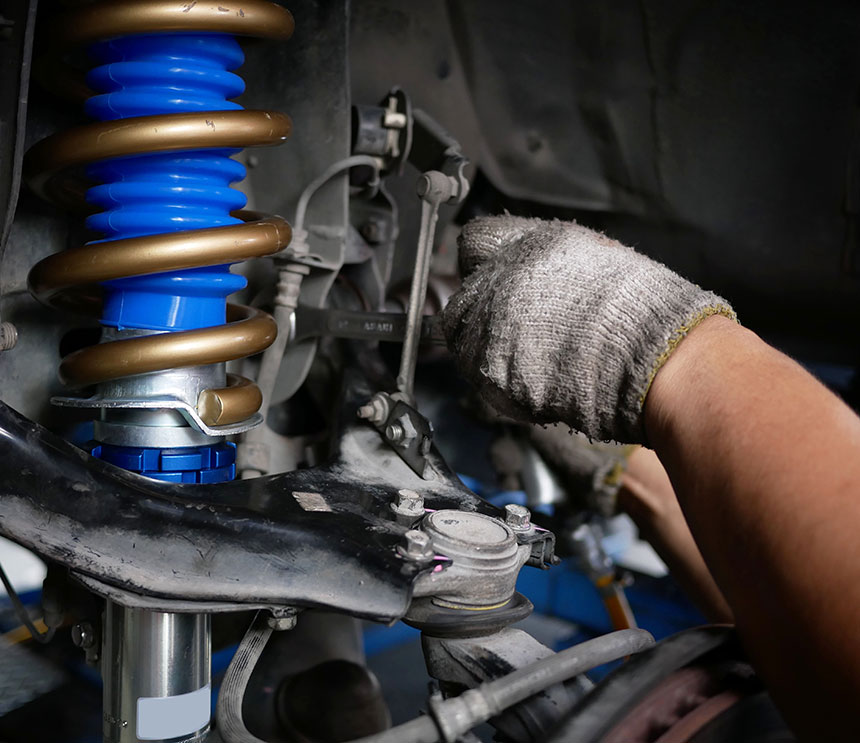 Maintaining a car shock absorbers at garage